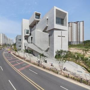 عکس - کلیسا closest ، اثر تیم طراحی معماری Heesoo Kwak و IDMM ، کره جنوبی
