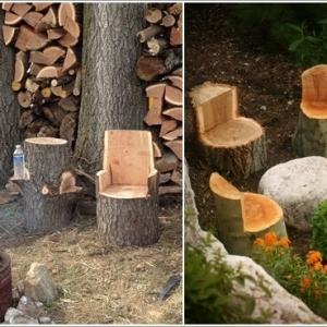 تصویر - 10 ایده شگفت انگیز جهت استفاده از تنه درخت در دکوراسیون و طراحی محوطه - معماری