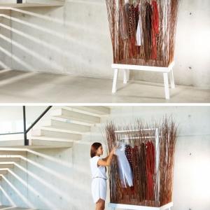 تصویر - کمد لباس از شاخه های درخت بید  - معماری