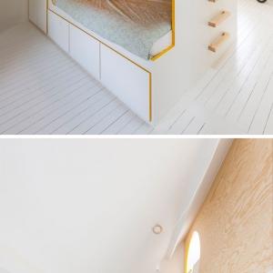 تصویر - طراحی اتاق خواب کودک با دو تخت و فضای بازی - معماری