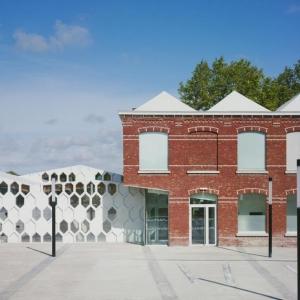 عکس - کتابخانه Andrée Chedid ، اثر معماران D HOUNDT و BAJART و همکاران ، فرانسه