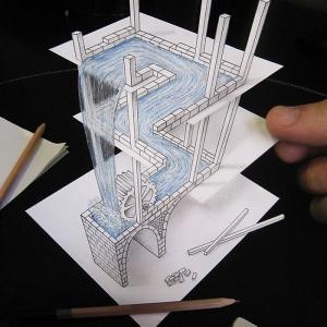 تصویر - نقاشی های سه بعدی هنرمند ایتالیایی - معماری