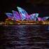 عکس - نورپردازی فوق العاده  خانه اپرای سیدنی در رویداد Vivid Sydney