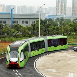 عکس - رونمایی چین از اولین قطار بدون ریل جهان