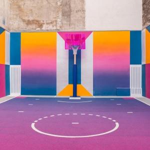 تصویر - بازطراحی زمین بسکتبال Rue Duperre , اثر استودیو Ill-Studio , پاریس - معماری