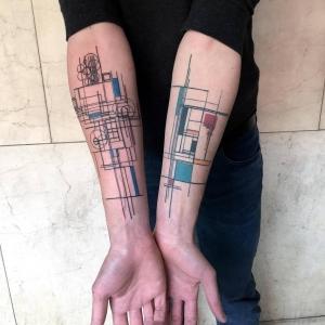 تصویر - تتوهای معمار پسند - معماری