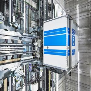 تصویر - مولتی، اولین آسانسور افقی-عمودی بدون طناب دنیا - معماری