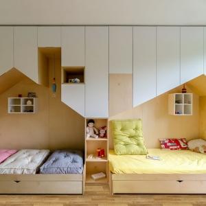 عکس - طراحی اتاق خواب مشترک برای دو کودک