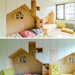 تصویر - طراحی اتاق خواب مشترک برای دو کودک - معماری
