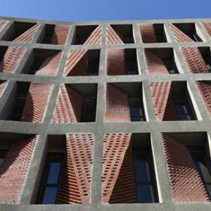عکس - الگوی هندسی ایرانی در پروژه مسکونی کهریزک