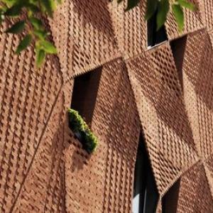 عکس - بافت بصری و متریال سنتی در پروژه سایه پود