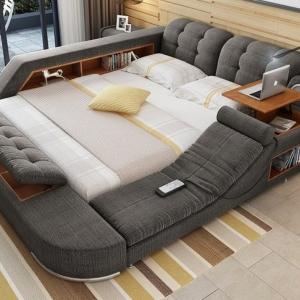 عکس - تخت خوابی چند منظوره با گجت ها و فضای زیاد