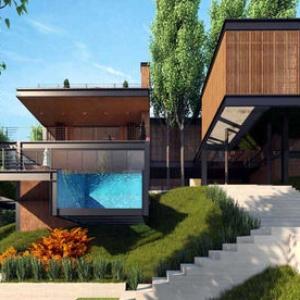 تصویر - طراحی خطی در یک پروژه مینیمال - معماری