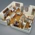 عکس - نمونه آپارتمانهایی با یک اتاق خواب