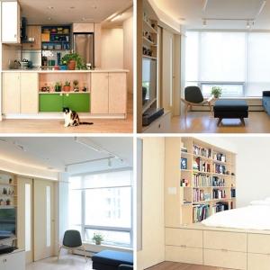 عکس - مجموعه ای از راه حلهای خلاقانه در طراحی داخلی این آپارتمان کوچک