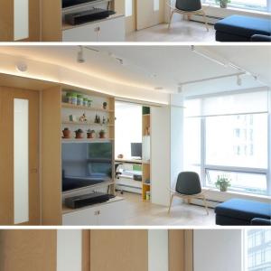تصویر - مجموعه ای از راه حلهای خلاقانه در طراحی داخلی این آپارتمان کوچک - معماری