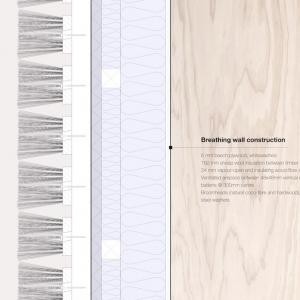 تصویر - متریالی متفاوت در نمای فضای کار - معماری