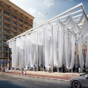 تصویر - طراحی پاویون تعاملی شهری در دوبی - معماری