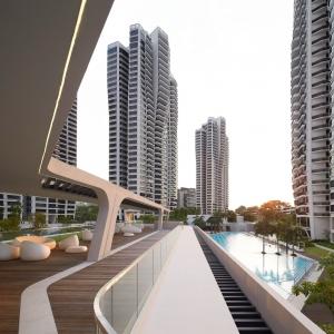 تصویر - مجتمع مسکونی D Leedon , اثر تیم طراحی معماری Zaha Hadid Architects , سنگاپور - معماری