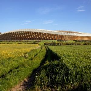 عکس - استادیوم چوبی Rovers , زاها حدید , بریتانیا