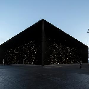 تصویر - تاریکترین ساختمان روی زمین  پاویون هنرمند هندی در المپیک زمستانی 2018 - معماری