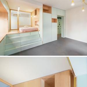تصویر - طراحی خلاقانه آپارتمانی کوچک در مادرید اسپانیا - معماری