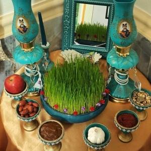 عکس - انواع ظروف مورد استفاده در سفره هفت سین ایرانی