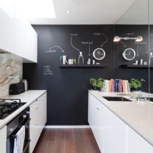 عکس - نوشتن بر روی دیوار:ایده هایی برای استفاده از تخته سیاه در دکوراسیون