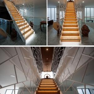 تصویر - طراحی نرده ای خاص برای پلکان داخلی - معماری