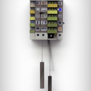 تصویر - ساعت دیواری معمارانه - معماری