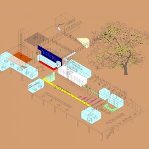 تصویر - مرکز فرهنگی Notre Dame de Grace , اثر تیم طراحی AFO - Atelier Big City , FSA و L'OEUF  , کانادا - معماری