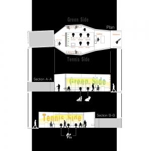 تصویر - سالن VIP اصلاح موی آقایان مجموعه ورزشی انقلاب , اثر تیم استودیو معماری 4 , ایران - معماری