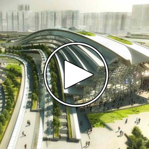 تصویر - Arching rooftop walkway tops Aedas West Kowloon Station in Hong Kong - معماری
