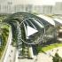 عکس - Arching rooftop walkway tops Aedas West Kowloon Station in Hong Kong