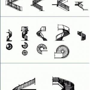 تصویر - دانلود رایگان فایل Cad انواع پله - معماری