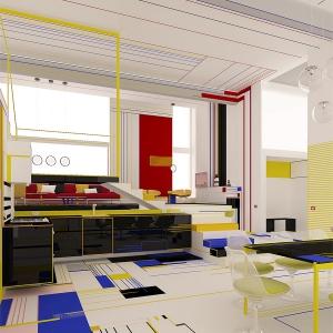 تصویر - طراحی داخلی با اقتباس از آثار نقاشی PIET MONDRIAN  - معماری