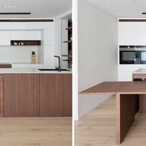 عکس - طراحی میز غذاخوری مخفی در آشپزخانه