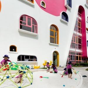 تصویر - مهدکودک Ho Chi Minh , اثرتیم طراحی KIENTRUC O , ویتنام - معماری
