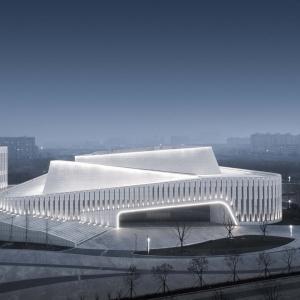 تصویر - مرکز فرهنگی Rudong , اثر تیم طراحی TJAD , چین - معماری