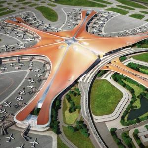 تصویر - فرودگاه داکسینگ ( Daxing ) , اثر Zaha Hadid Architects و ADP Ingenierie , پکن - معماری