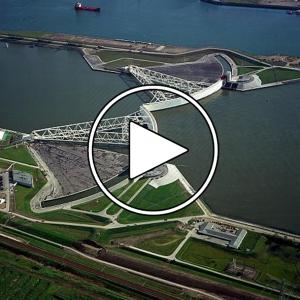 تصویر - عظیم ترین آببند ساحلی جهان در هلند - معماری