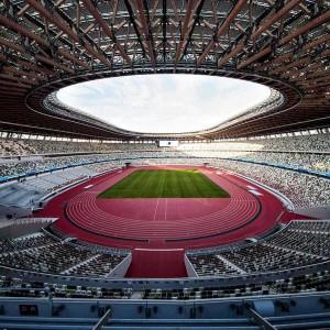 عکس -  ورزشگاه ملی ژاپن ، میزبان اصلی بازیهای المپیک توکیو