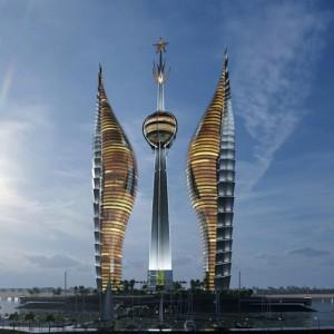 تصویر - برجهای نیزهای جیبوتی , طراحی نمادی بر اساس فرهنگ آفریقا - معماری