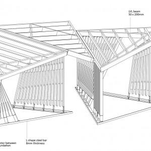 تصویر - ایستگاه حمل و نقل شهری Kohta ، اثر تیم طراحی Aalto University Wood Program ، فنلاند - معماری