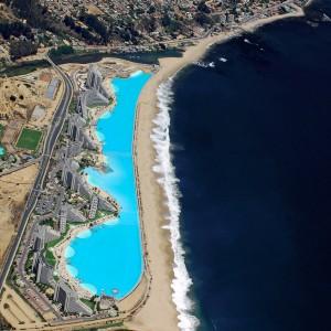 تصویر - عمیق ترین و طولانی ترین استخر دنیا در هتل San Alfonso Del Mar ، شیلی - معماری