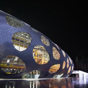 تصویر - استادیوم فوتبال آرنا بوریسوف ( Arena Borisov ) , اثر تیم طراحی OFIS Architects , بلاروس  - معماری
