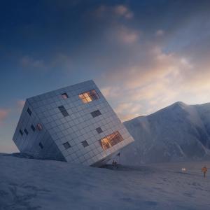 عکس - اقامتگاه کوهستانی Cuboidal Mountain Hut , اثر آتلیه معماری Atelier 8000 , اسلواکی