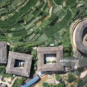 عکس - فوجیان تالو , معماری ویژه زندگی جمعی در چین