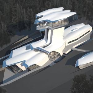 تصویر - اقامتگاه Capital Hill Residence , توسط معمار زاها حدید ( Zaha Hadid ) , روسیه - معماری