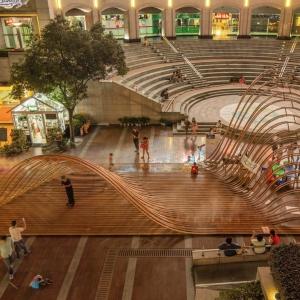 عکس - اینستالیشن شهری Flexible Landscape , اثر تیم طراحی GOA Architects , چین
